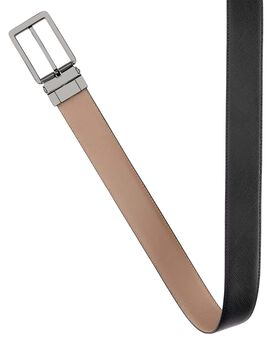 """Cinturón reversible en piel con grabado de diseño balístico 44"""" Belts"""