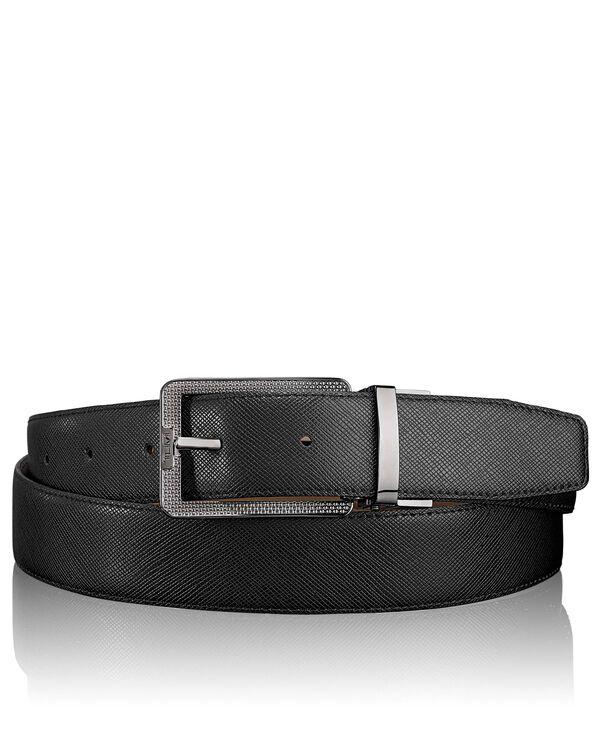 """Belts Cinturón reversible en piel con grabado de diseño balístico 44"""""""